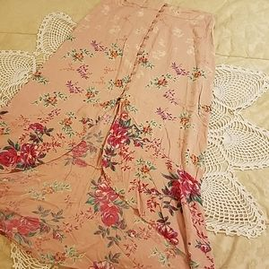 Rayon high low maxi skirt